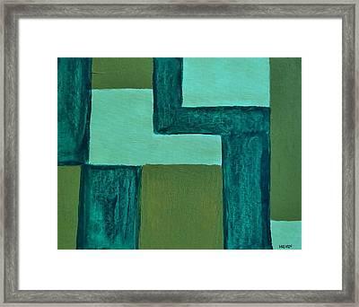 Denim Framed Print by Marsha Heiken