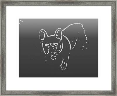 Butterfly The Frenchie Framed Print by Heather Joyce Morrill
