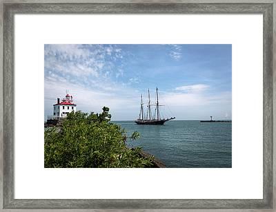 Denis Sullivan At Fairport Harbor Framed Print by Dale Kincaid