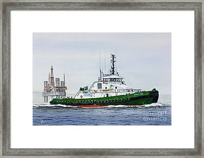 Framed Print featuring the painting Denise Foss by James Williamson