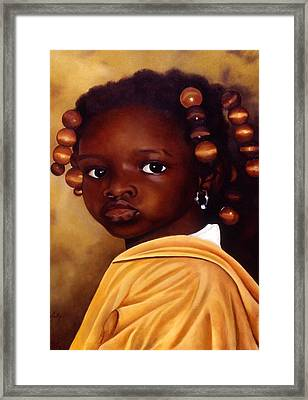 Denise-ghana Framed Print by Daniela Easter