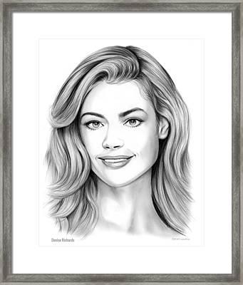 Denise Richards Framed Print