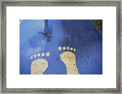 Denmark, Copenhagen Feet In The Street Framed Print