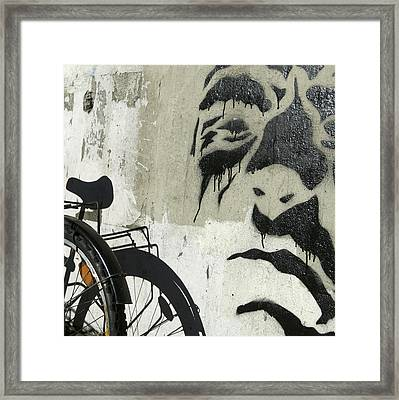 Denmark, Copenhagen Graffiti On Wall Framed Print by Keenpress