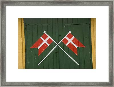 Denmark, Dannebrog, Danish Flag Framed Print by Keenpress