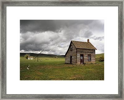 Denmark Jensen Cabin Framed Print by Leland D Howard