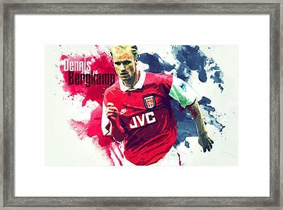 Dennis Bergkamp Framed Print by Semih Yurdabak