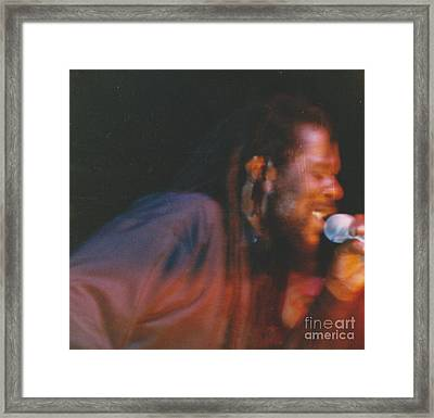 Dennis Brown Framed Print