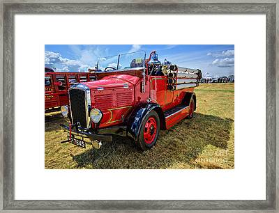 Dennis Fire Engine Framed Print by Nichola Denny