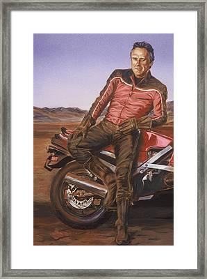 Dennis Hopper Framed Print by Bryan Bustard
