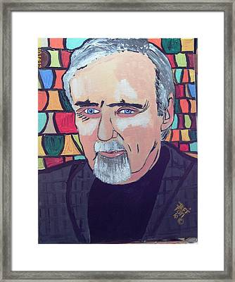 Dennis Hopper Framed Print by Jeffrey Foti