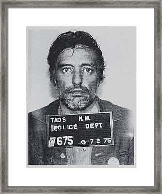 Dennis Hopper Mug Vertical Framed Print by Tony Rubino