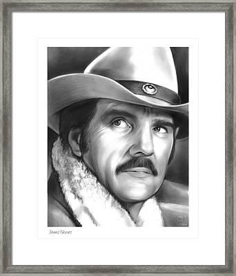 Dennis Weaver Framed Print by Greg Joens