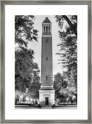 Denny Chimes Black And White Framed Print by JC Findley