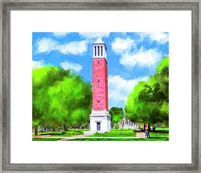 Denny Chimes - University Of Alabama Framed Print