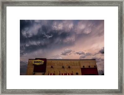 Denny's At Sunset Framed Print