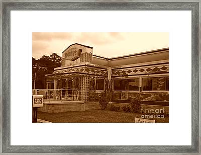 Denny's Framed Print by Evelyn Hill
