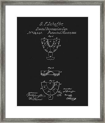 Dental Mold Patent Framed Print by Dan Sproul