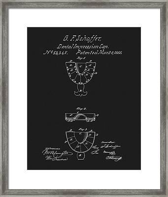 Dental Mold Patent Framed Print