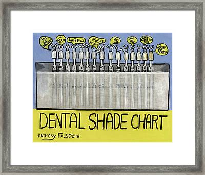 picture regarding Tooth Shade Chart Printable identified as Anthony Falbo - Dental Artwork - Wall Artwork