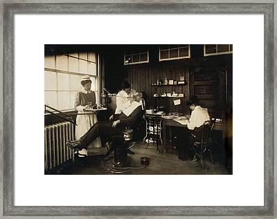 Dental Work In A Hospital, Cambridge Framed Print by Everett