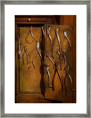 Dentist - Methods Of Extraction  Framed Print by Mike Savad