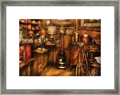 Dentist - The Dentist's Desk  Framed Print by Mike Savad
