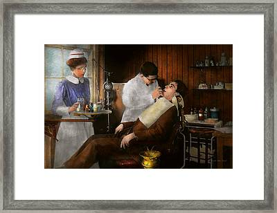 Dentist - An Incisive Decision - 1917 Framed Print by Mike Savad
