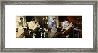 Dentist - An Incisive Decision - 1917 - Side By Side Framed Print by Mike Savad