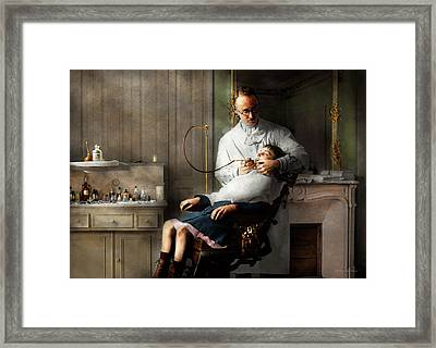 Framed Print featuring the photograph Dentist - Good Oral Hygiene 1918  by Mike Savad