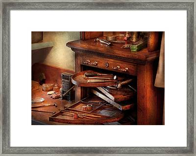 Dentist - Lab - Dental Laboratory  Framed Print by Mike Savad