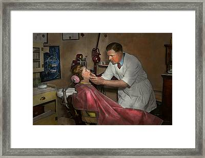 Dentist - Making An Impression - 1936 Framed Print