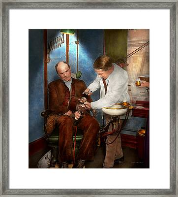Dentist - Monkey Business 1924 Framed Print by Mike Savad