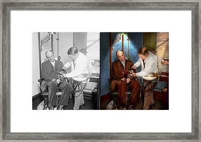 Dentist - Monkey Business 1924 - Side By Side Framed Print by Mike Savad