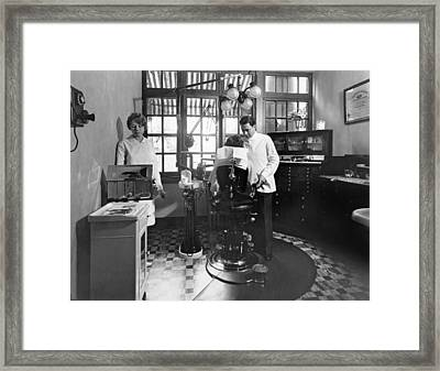 Dentist Office At Sanatarium Framed Print by Underwood Archives
