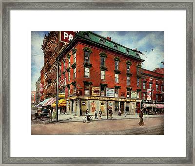 Framed Print featuring the photograph Dentist - Peerless Painless Dental Parlors 1910 by Mike Savad