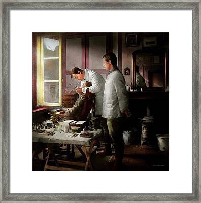 Dentist - The Horrors Of War 1917 Framed Print by Mike Savad