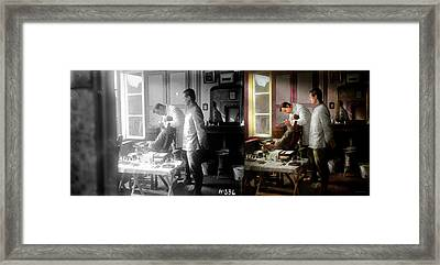 Framed Print featuring the photograph Dentist - The Horrors Of War 1917 - Side By Side by Mike Savad