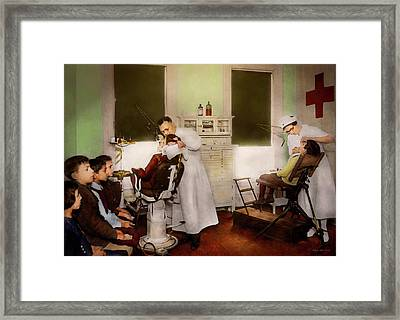Dentist - Treating Them Like Children 1922 Framed Print