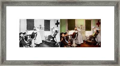 Dentist - Treating Them Like Children 1922 - Side By Side Framed Print