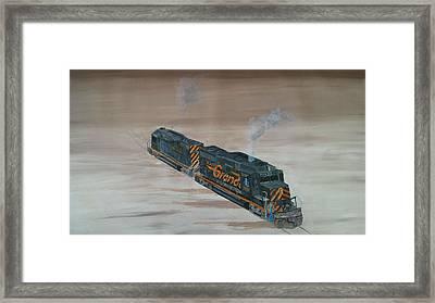 Denver And Rio Grande Study No. One Framed Print by Regis Gagnon