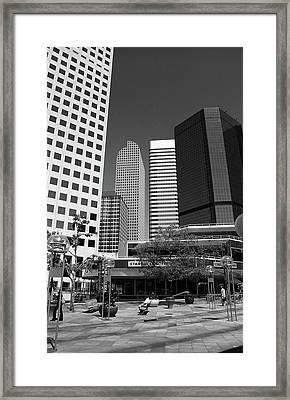 Denver Architecture Bw Framed Print by Frank Romeo