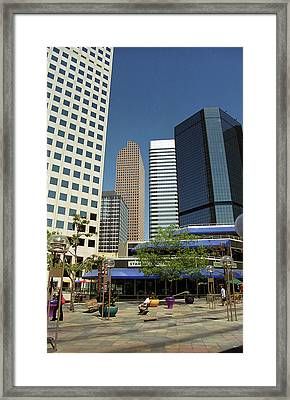 Framed Print featuring the photograph Denver Architecture by Frank Romeo