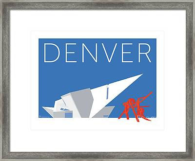 Denver Art Museum/blue Framed Print