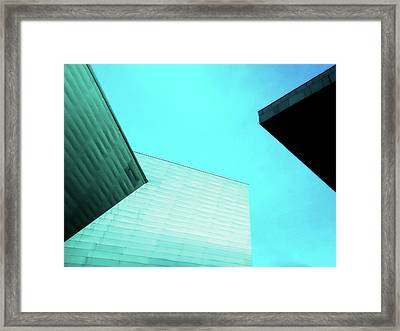 Framed Print featuring the photograph Denver Art Museum Hamilton by Marilyn Hunt