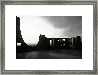 Framed Print featuring the photograph Denver Art Museum Ponti 2 by Marilyn Hunt