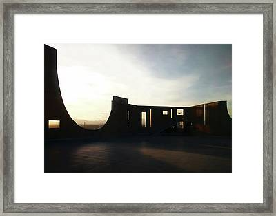 Framed Print featuring the photograph Denver Art Museum Ponti Deck by Marilyn Hunt