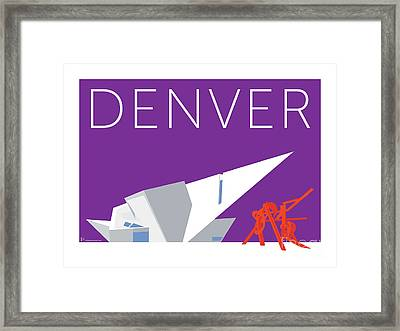 Denver Art Museum/purple Framed Print