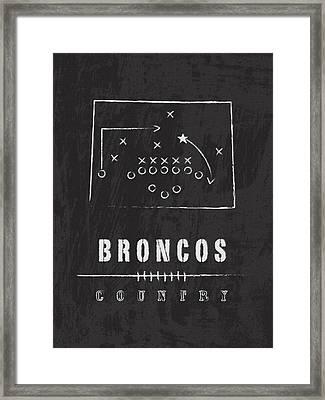Denver Broncos Art - Nfl Football Wall Print Framed Print