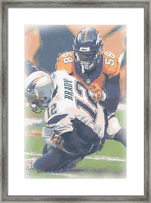 Denver Broncos Von Miller 2 Framed Print by Joe Hamilton